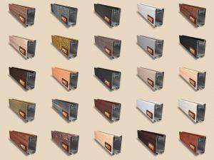 """Алюминиевый ламинированный профиль """"HOLZ"""" для шкафов купе и межкомнатных перегородок Более 100 цветов Великий Новгород"""