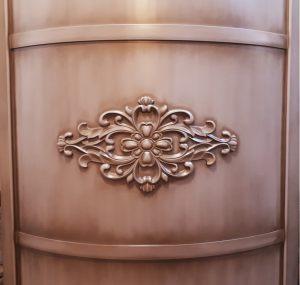 Вставка радиусная с декоративной накладкой эмаль с патиной Великий Новгород